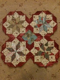Optical illusion English paper pieced quilt pattern Daisy Chain English Paper Piecing project   Red Pepper Quilts