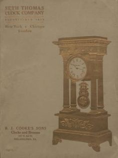 Catalogue, 1906-1907, Sept. 1, 1906 / Seth Thomas Clock Company. 1906. Metropolitan Museum of Art (New York, N.Y.). Thomas J. Watson Library. Trade Catalogs. #grandfather clock #home decor |Time doesn't stop for anyone.