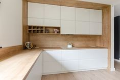 Projekt domu w okolicach Poznania ok. 120 m2 - Mała zamknięta kuchnia w kształcie litery l, styl nowoczesny - zdjęcie od Architektownia