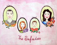 Perosnalized Family Portrait  benutzerdefinierte von AsmaOriginal