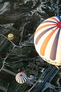 Orange White and Blue Hot Air Balloons during Daytime