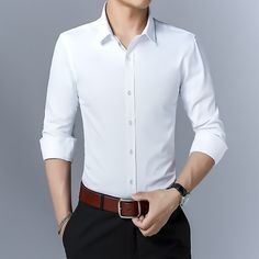 Business Casual Blazer Men, Business Casual Dresses, Formal Shirts For Men, The Office Shirts, Mens White Dress Shirt, Shirt Men, Stylish Shirts, Blazer Jacket, Men Blazer