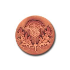 Scottish Thistle Ceramic Cookie and Clay Stamp by distlefunk, $8.50