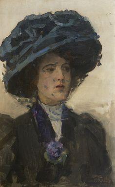 Isaac Israëls - Vrouw met blauwe hoed