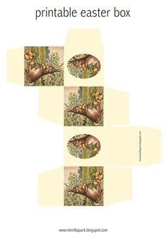 Free printable vintage bunny easter box - ausdruckbare Beschenkbox - freebie   MeinLilaPark – DIY printables and downloads