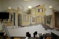 Artystyczne malowanie ścian, malarstwo dekoracyjne, mural, malowidła 3D, fresk, pokoje dziecięce: Wystrój bru w Pałacu Kultury i Nauki