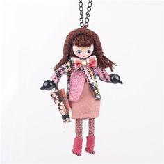 Handmade Doll Long Chain Pendants – Hand Pick Style