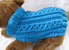 (6) Name: 'Knitting : Celtic Doggie Zig Zag Rib dog sweater