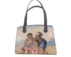 rucne-malovana-damska-kabelka-s-motivom-michelangelo-the-doni-tondo-1 Michelangelo, Ted Baker, Reusable Tote Bags