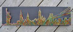 New York City Skyline  String Art  NYC  Nails & by LocalEast