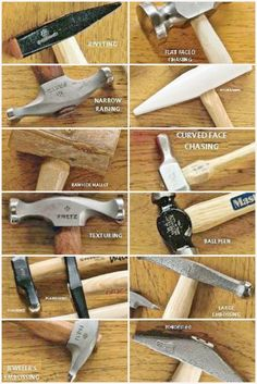 Ultimate guide to the types of jewelry hammers and how to use them! #jewelrymaking #hammers #diyjewelry