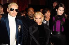 Dead ringers: Kim and Jared Leto both showed off their newly dyed locks (his for his role ...