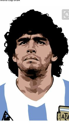 Diego Armando Maradona is a retired Argentine professional footballer. Football Images, World Football, Football Soccer, Nfl Superbowl, Retro Football, Ronaldo, World Cup Draw, Sports Drawings, Soccer Art