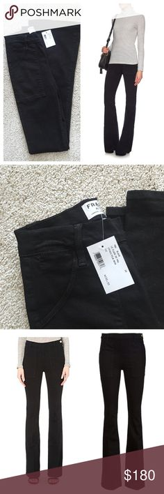 Frame flare denim jeans Brand new. Many celebrity and bloggers favorite. Sold out almost everywhere. Retail $250 with tax Composition: Polyester 6% Composition: Cotton 91% Washing Instructions: Machine Wash Frame Pants