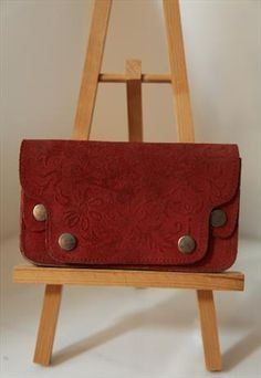 Vintage 70s Leather Brown Wallet / Tobacco Case