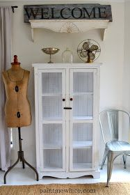 Paint Me White: DIY..Farmhouse Cabinet #diy #howto #tips