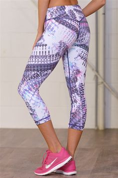 Bring It On Athletic Crop Pants - Purple Multi Print from Closet Candy Boutique #fashion #shop 10% off and FREE shipping with code REPJENNIFER!