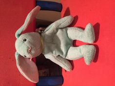 Found on 26 Feb. 2016 @ 3rd St and Madison Dr, Washington, DC. Found this bluish green Hippity Beanie Baby lying in the street between the Capitol and the National Gallery of Art. https://www.google.com/maps/place/1 42+3rd+St+NW,+Washington,+DC+20001/ @38.8913... Visit: https://whiteboomerang.com/lostteddy/msg/iuro4z (Posted by Christopher on 26 Feb. 2016)