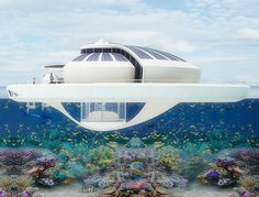 future, Solar Floating Resort, SFR, Michele Puzzolante, luxury, futuristic, yacht, watercraft, solar power, vehicle