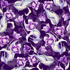 Watercolor Tulips Pattern