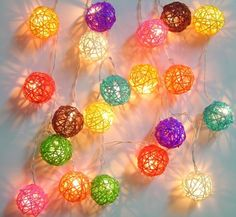These cute fairy lights are in little balls, wrapped with wool and PVA glue! Great for a warm and cuddly Winter Sleepout!