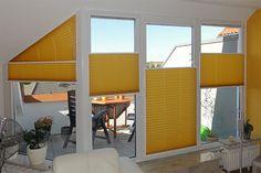 #plissee #balkon #gelb Macht Euer Zuhause schöner mit unseren Plissees.