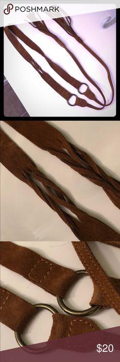 Suede leather fringe belt Real suede leather Fringes Accessories Belts