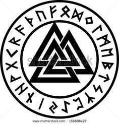 Valknut, Runen Kreis, Odin Symbol, Dreieinigkeit - Buy this stock vector and explore similar vectors at Adobe Stock Pagan Symbols, Norse Pagan, Symbols And Meanings, Viking Symbols, Norse Mythology, Religious Symbols, Valknut Tattoo, Norse Tattoo, Viking Tattoos