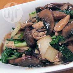 Bok Choy with Mushroom Sauce @ allrecipes.com.au