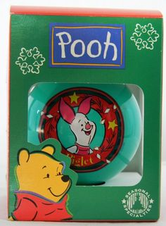 #Disney Piglet Winnie the Pooh Glass Ornament Christmas Holiday Collectible #christmasornament