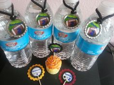 Personalized Football Theme Water Bottles, Birthday Party Favors | PartySupplies2 - Children's on ArtFire