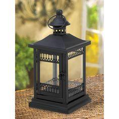 Black Victorian Grace Candle Lantern Wedding Centerpieces for your vintage theme wedding - Affordable Elegance Bridal