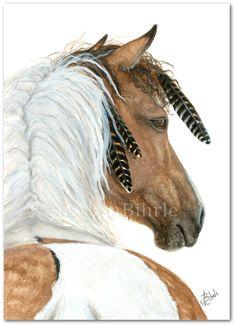 Majestic Horse 94 Buckskin Dun Paint Native by AmyLynBihrle, $8.99 Looks just like March!