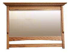 Amish Large Shaker Mirror with Hooks Option