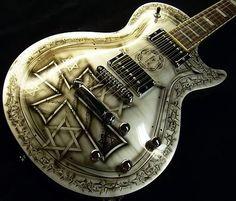 Custom Painted Guitars | Sims Custom Shop-built Les Paul - Crown of Thorns paint scheme