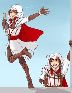 Ciao! by EmjayxD.deviantart.com on @deviantART - Crossover between Hetalia and Assassin's Creed using Feliciano and Lovino as assassins.