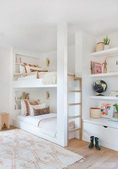 "Outstanding ""modern bunk beds for girls room"" information is readily available on our site. Check it out and you wont be sorry you did. Kids Bedroom Designs, Bunk Bed Designs, Kids Room Design, Bedroom Ideas, Bedroom Inspiration, Bedroom Decor, Style Inspiration, Modern Bunk Beds, Modern Bedroom"