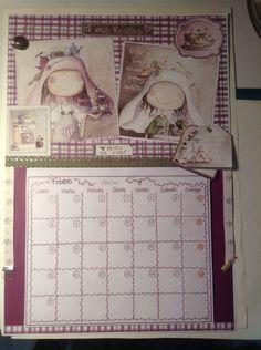 Calendario de pared artesanal...