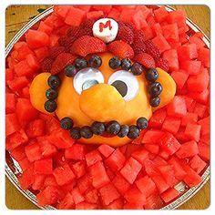 Fruit tray ideas for kids children 45 Best ideas - Mario Bros party - Super Mario Birthday, Mario Birthday Party, Super Mario Party, 4th Birthday Parties, 7th Birthday, Birthday Ideas, Nintendo Party, Superman Party, Fruit Creations