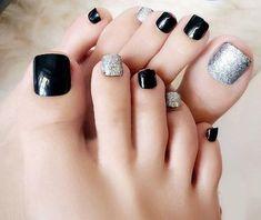 Simple Toe Nails, Pretty Toe Nails, Pretty Toes, Love Nails, Cute Acrylic Nail Designs, Toe Nail Designs, Cute Acrylic Nails, Toe Nail Art, Artificial Nails