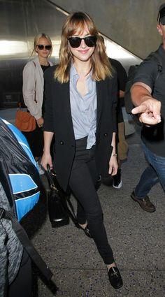 Dakota arriving in LA