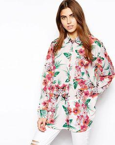 - Chemise oversize à imprimé fleurs tropicales - Glamorous Plus d'articles inspirés de la tendance Brésil / Brazil sur http://www.liganz.com/products/selections/brazilfever  #mode #style #fashion