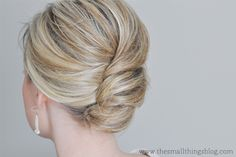 The Small Things Blog reverse french twist.