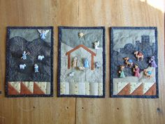 DSC01420 Christmas Gifts To Make, Holiday Crafts, Christmas Time, Christmas Ideas, Christmas Nativity Scene, Nativity Scenes, Christmas Patchwork, Christian Crafts, Quilted Ornaments
