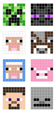 Minecraft perler beads pattern