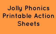 Printable sheets for Jolly Phonics