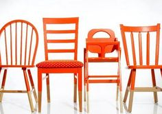 paint your miss match kitchen chairs the same color to tie everything together, love it!!