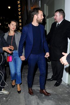 Jamie Dornan and wife Amelia attend the SoHo VIP relaunch party in London, Jan. 18, 2018