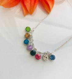 Minimilist Birthstones Necklace❤️ Birthstone Necklace, Stone Bracelet, Malachite, Bracelets For Men, Birthstones, Chakra, Etsy Seller, Gemstones, Detail
