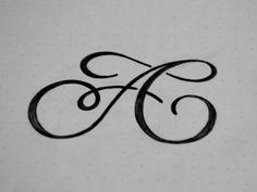 AC monogram designed by Florin Capota. Monogram Design, Lettering Design, Hand Lettering, Logo Design, Handwritten Typography, Typography Quotes, Logos, Embroidery Letters, Watercolor Design